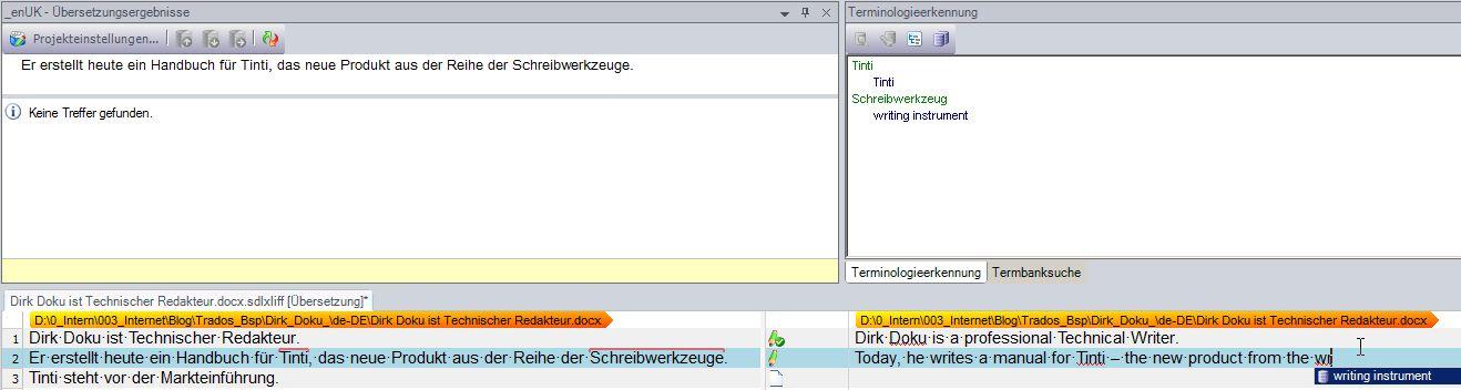 Screenshot @SDL Trados Studio 2011; Zum Vergrößern anklicken